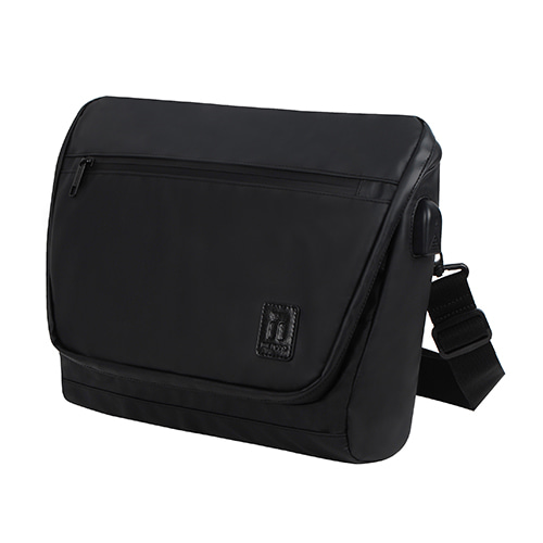 [TSL-302] TRAVELERS BLACK MESSEMGER BAG